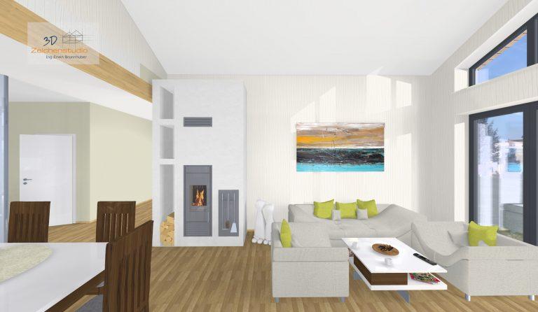 Wohnzimmer mit Schiedel Kingfire